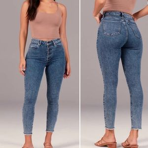 A&F Curve Love High Rise Super Skinny Ankle Jeans